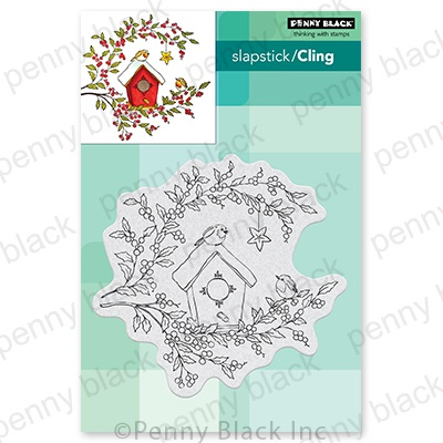 Penny Black Cling Stamps-Birdhouse Blessings