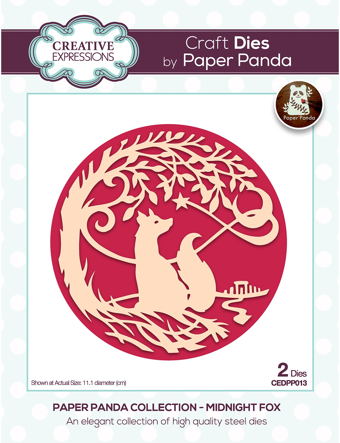 Creative Expressions Craft Dies By Paper Panda-Midnight Fox