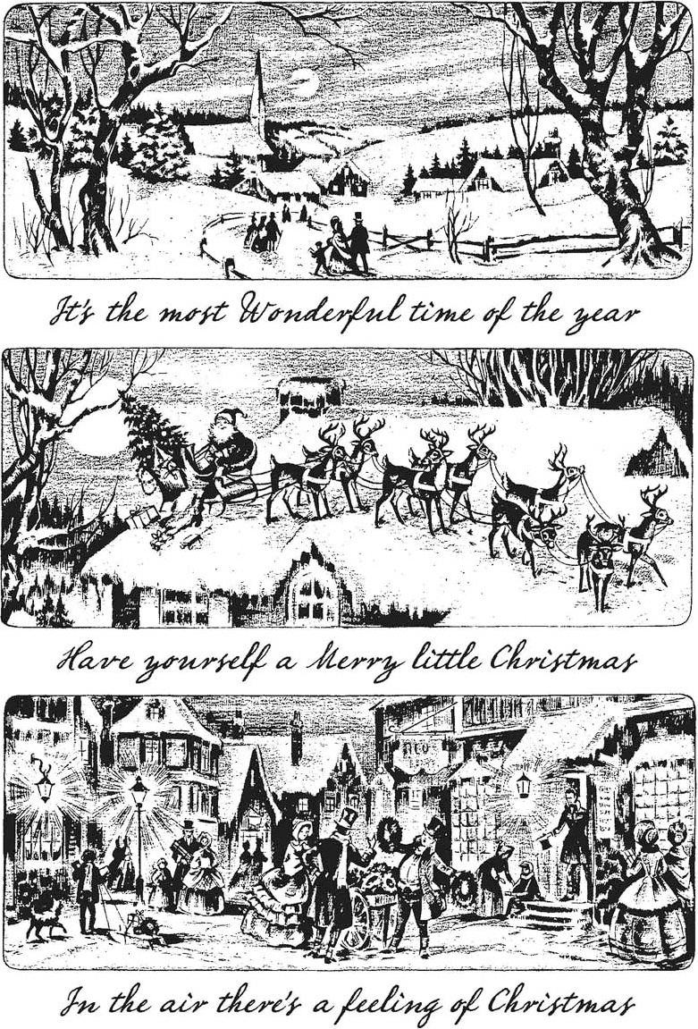 Tim Holtz Cling Stamps- Holiday Scenes