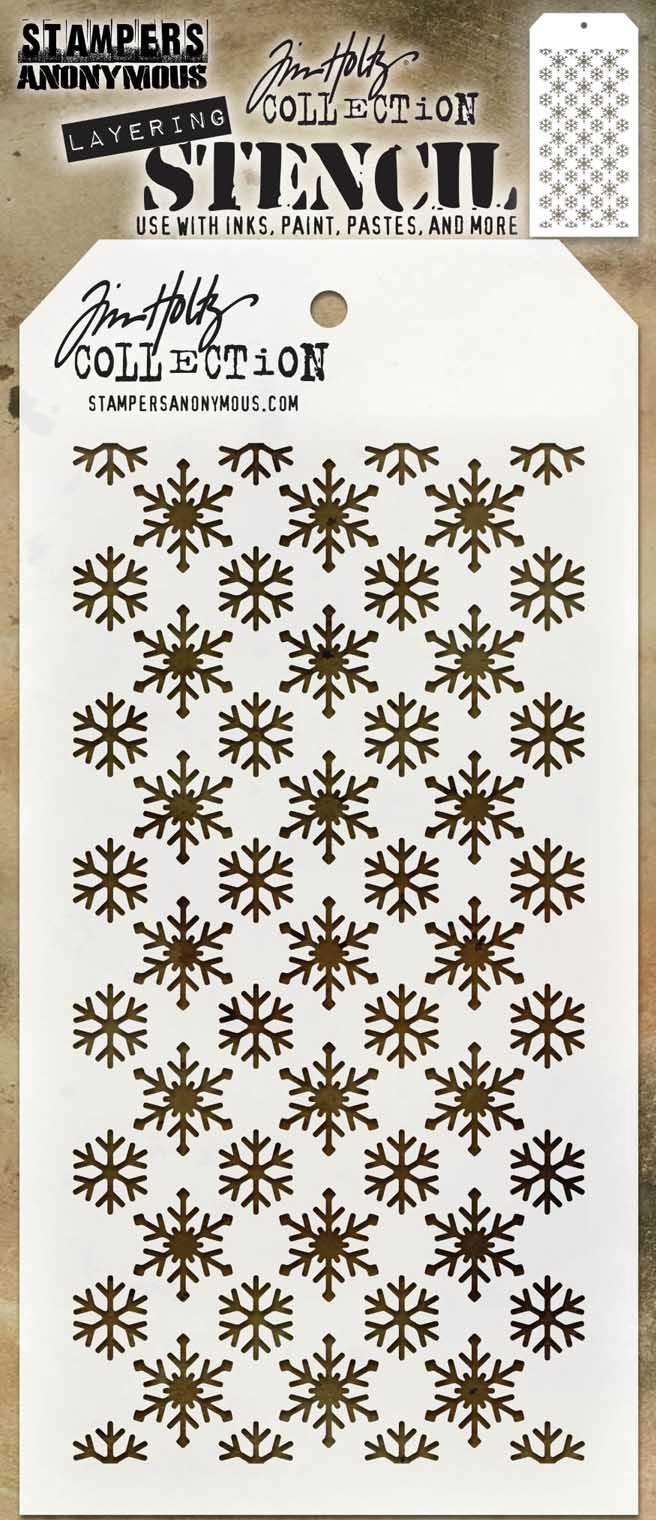 Tim Holtz Layered Stencil 4.125X8.5-Flurries