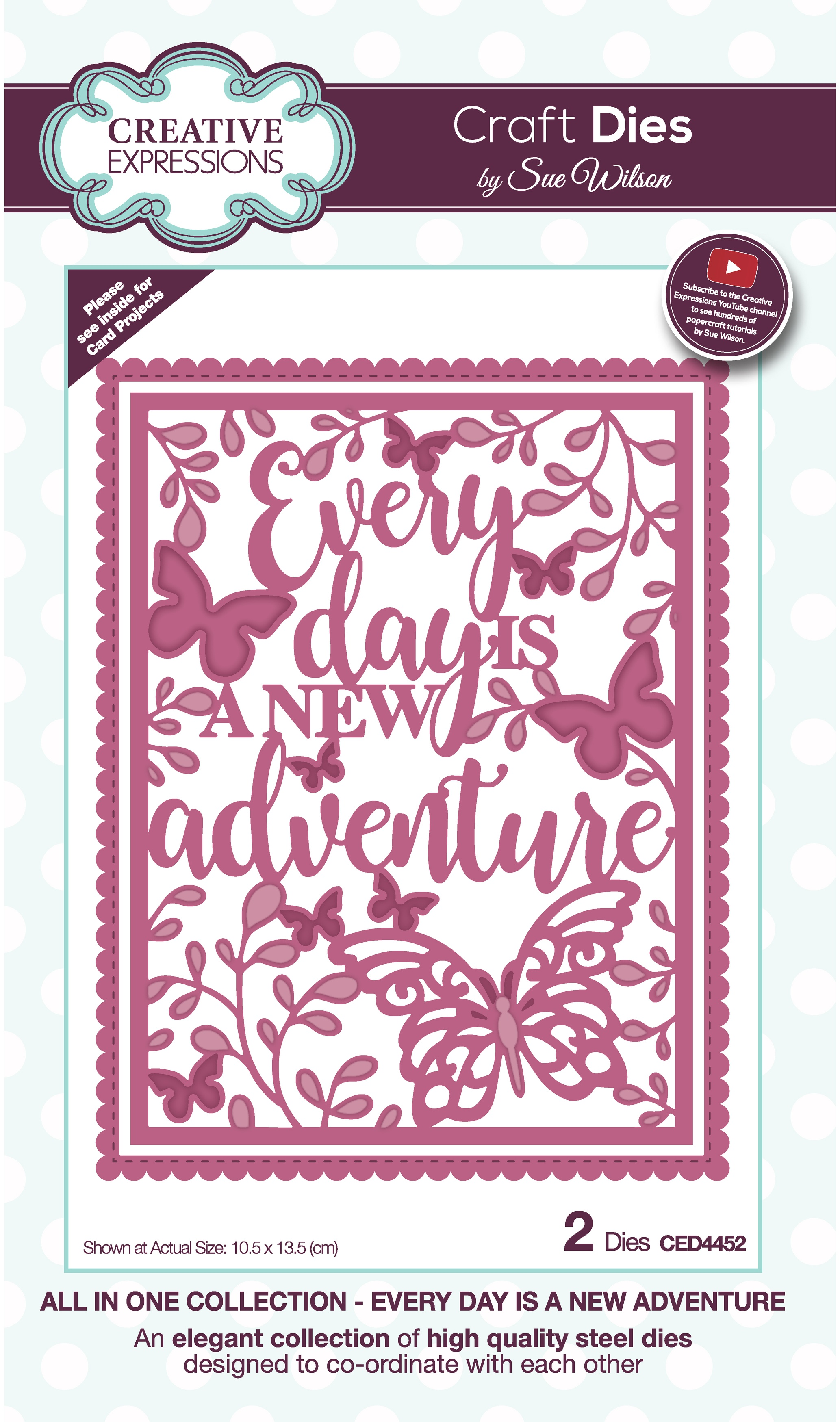 Creative Expressions Craft Dies By Sue Wilson-All In One- Every Day Is A New Adv...