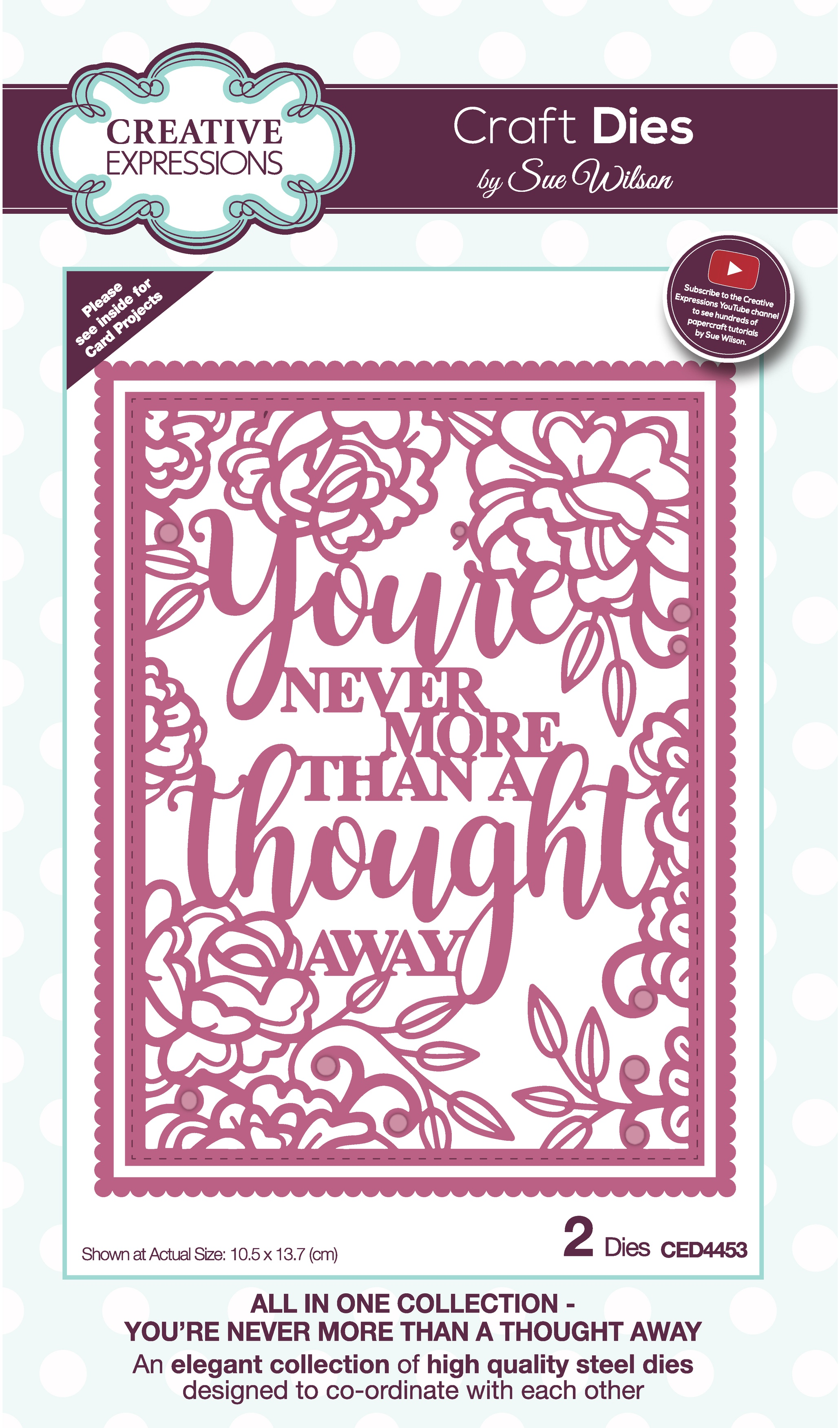 Creative Expressions Craft Dies By Sue Wilson-All In One- A Thought Away