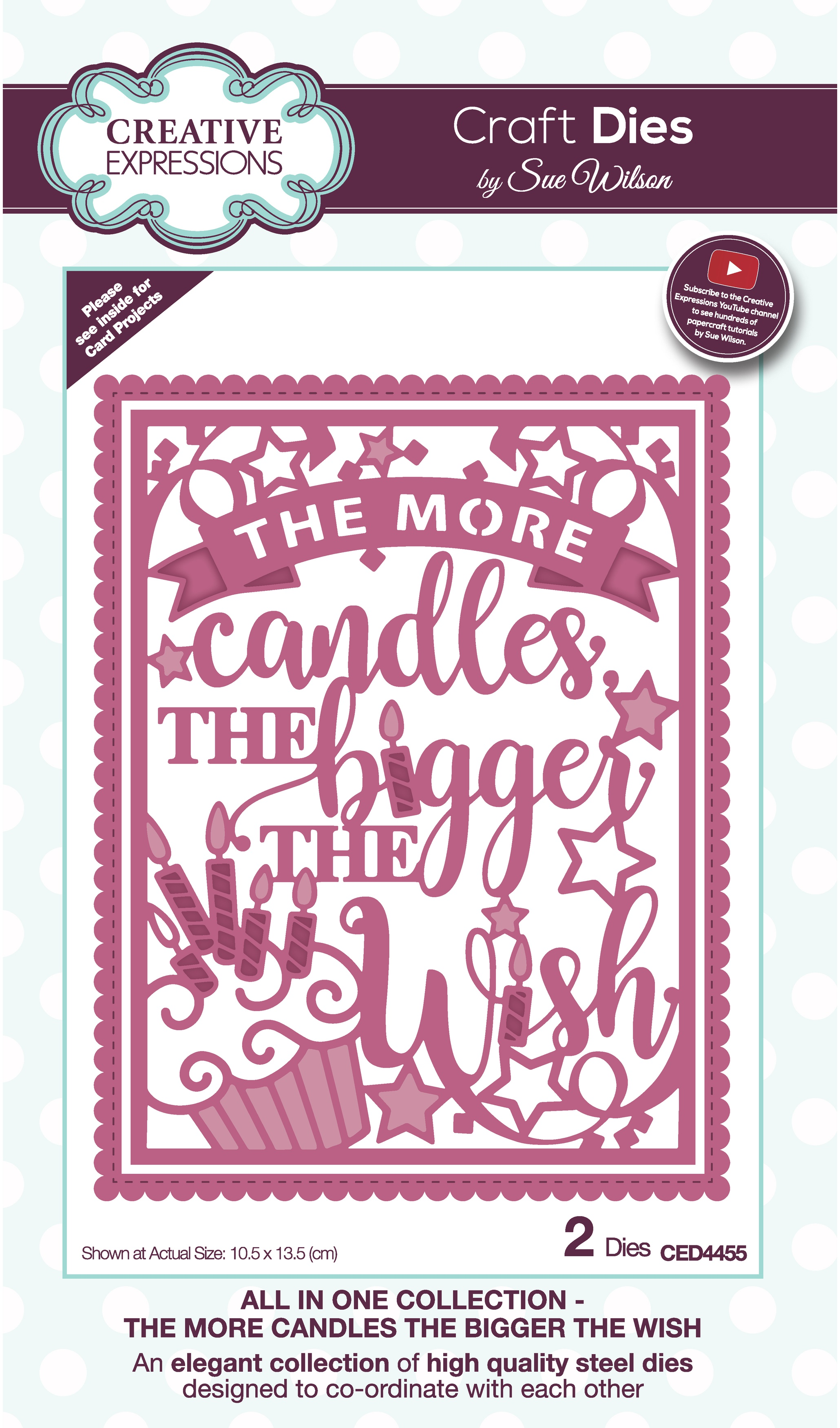 Creative Expressions Craft Dies By Sue Wilson-All In One- The More Candles