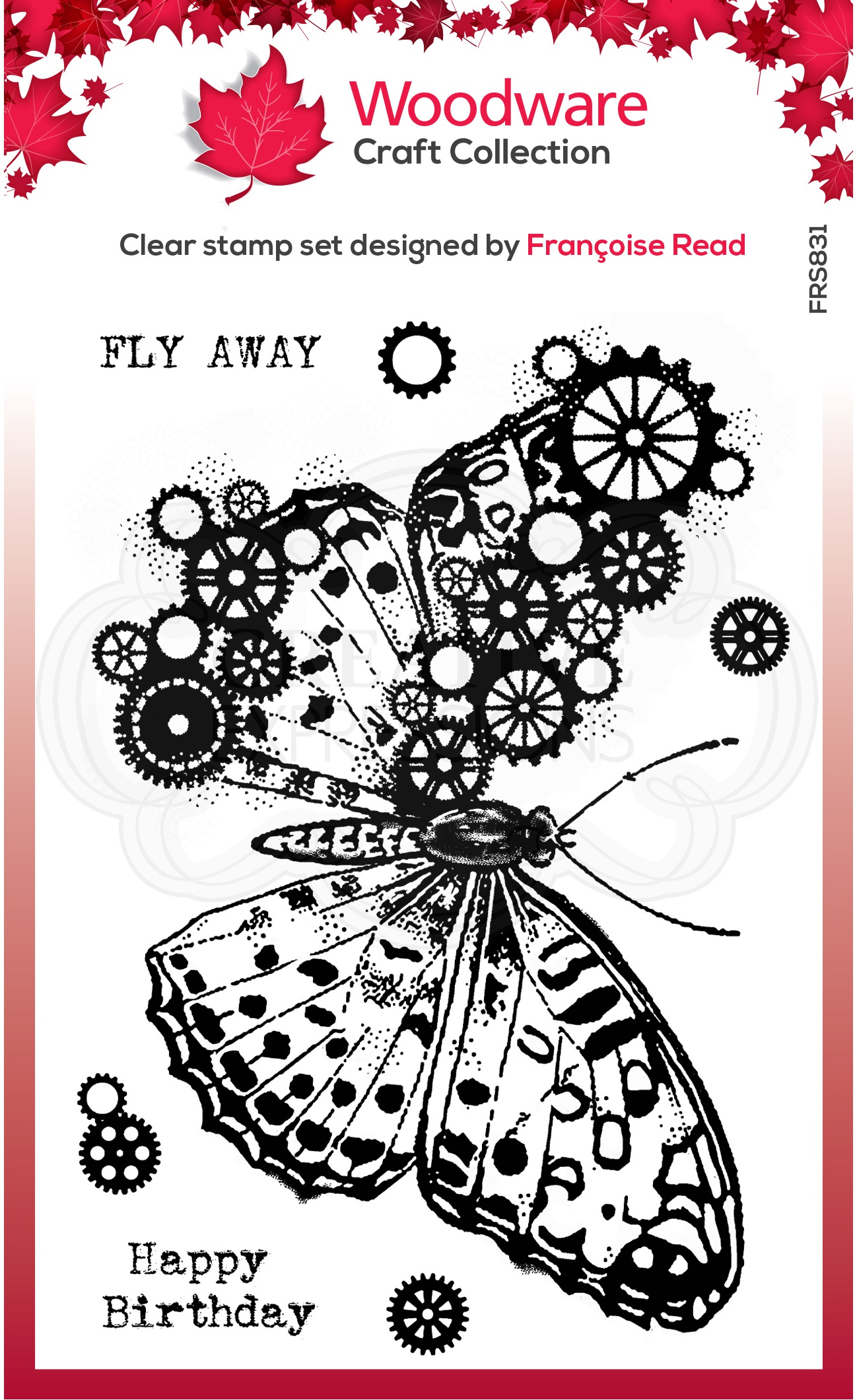 Woodware Clear Stamps 4X6-Butterfly