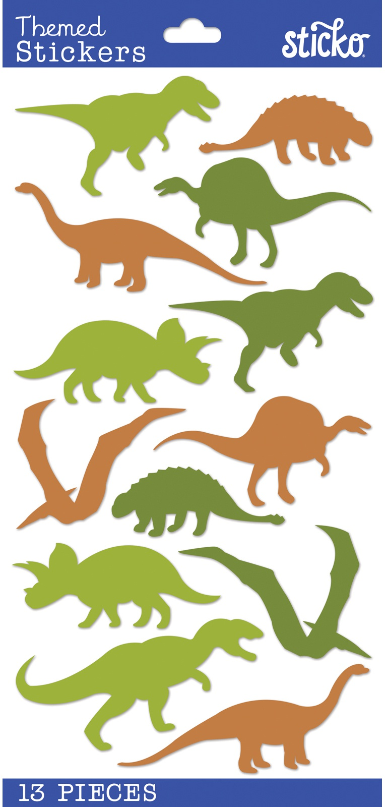 Sticko Tiny Stickers-Dinosaur Silhouettes