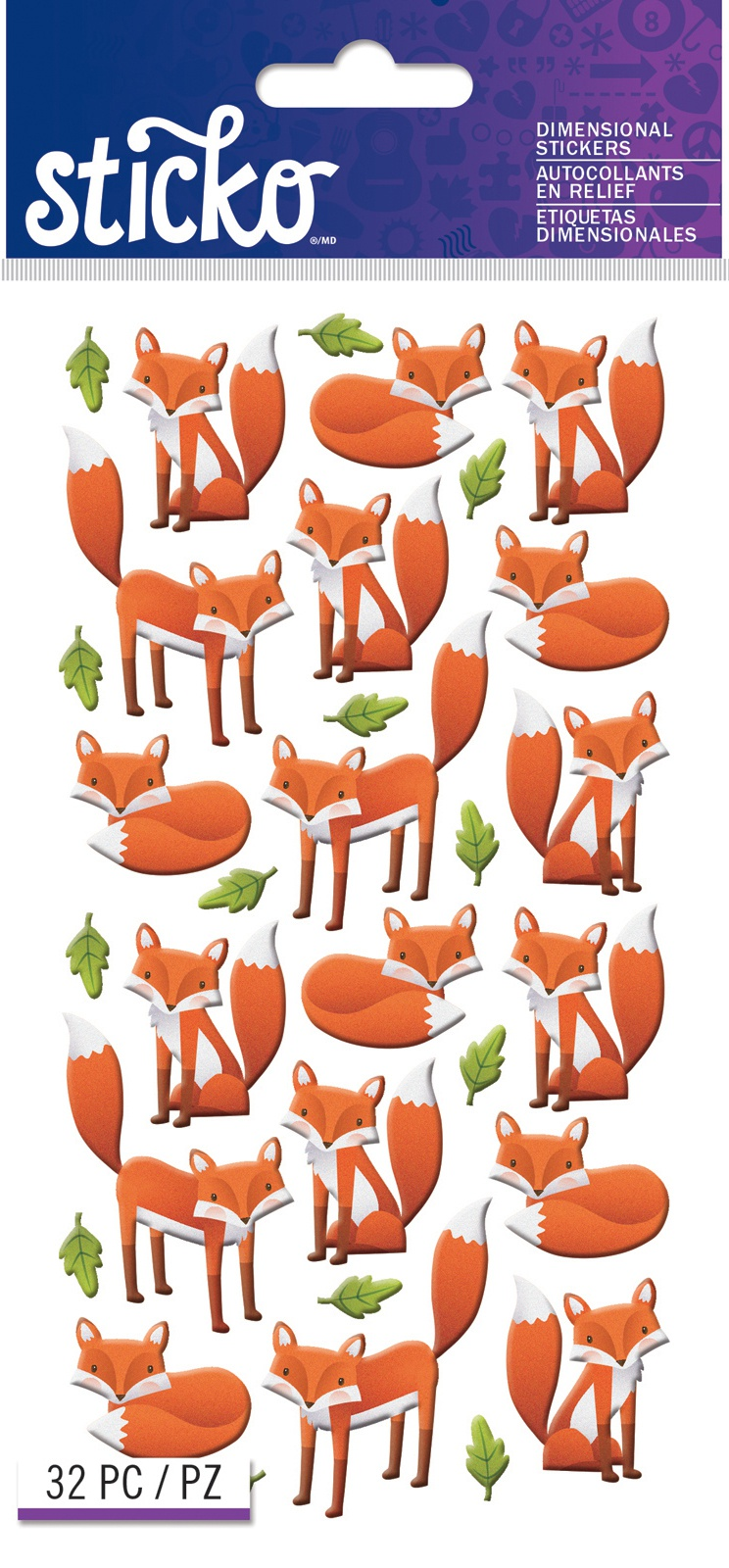 Sticko Stickers-Foxes