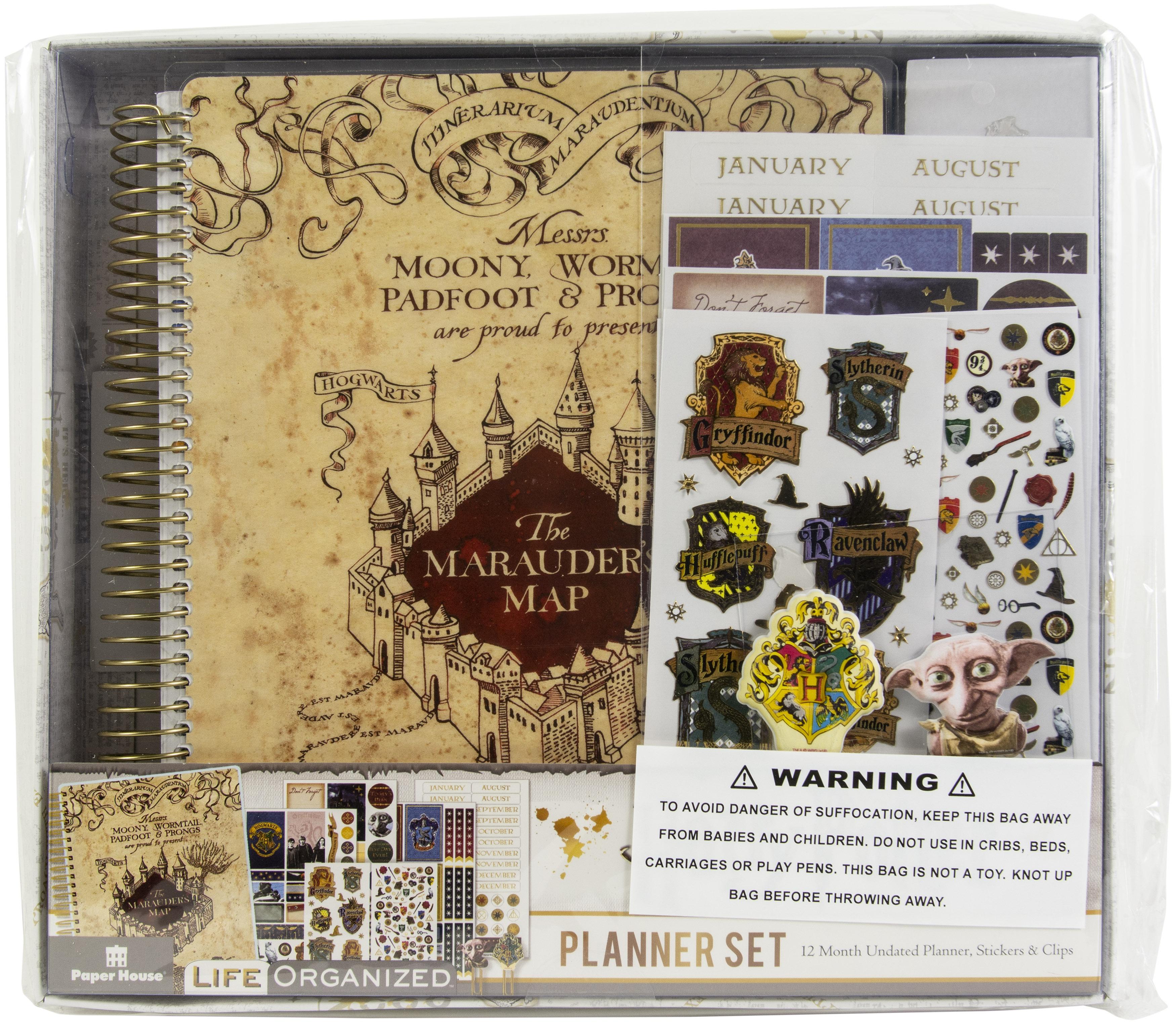 Paper House 12-Month Planner Set-Marauder's Map Harry Potter