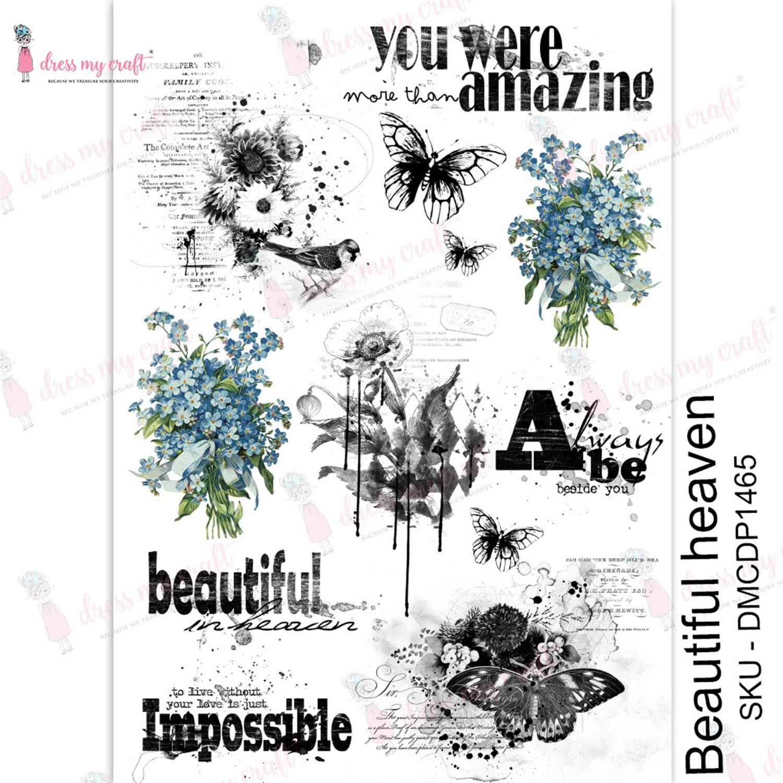 Dress My Craft Transfer Me Sheet A4-Beautiful Heaven