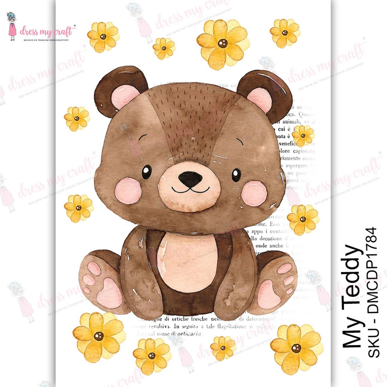 Dress My Craft Transfer Me Sheet A4-My Teddy