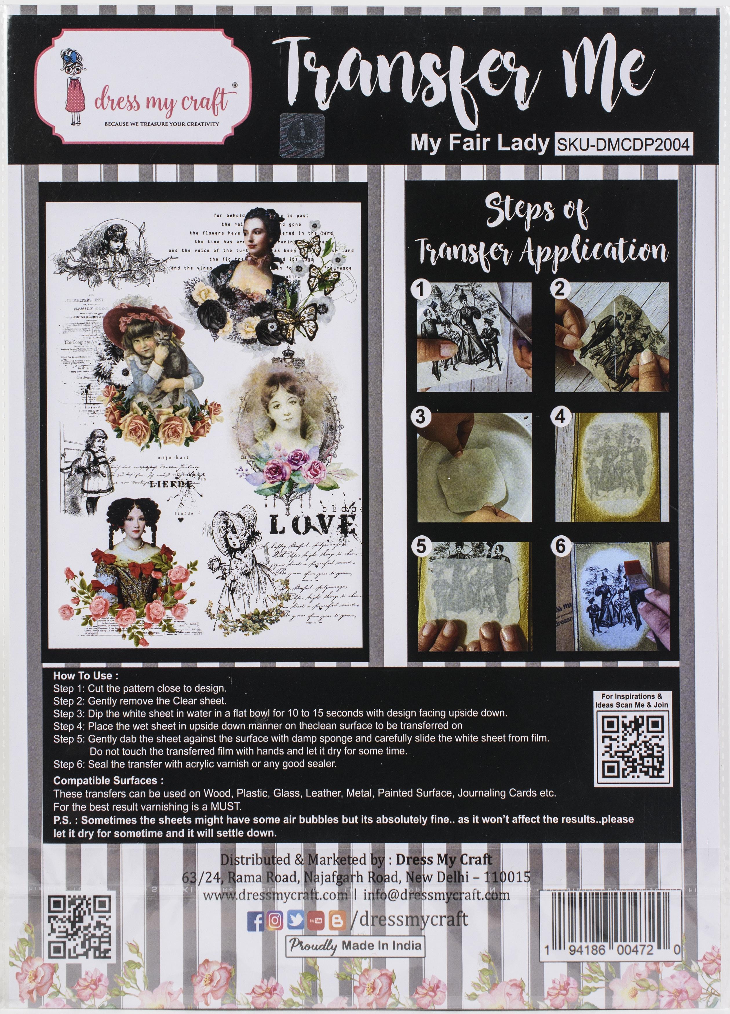 Dress My Craft Transfer Me Sheet A4-My Fair Lady