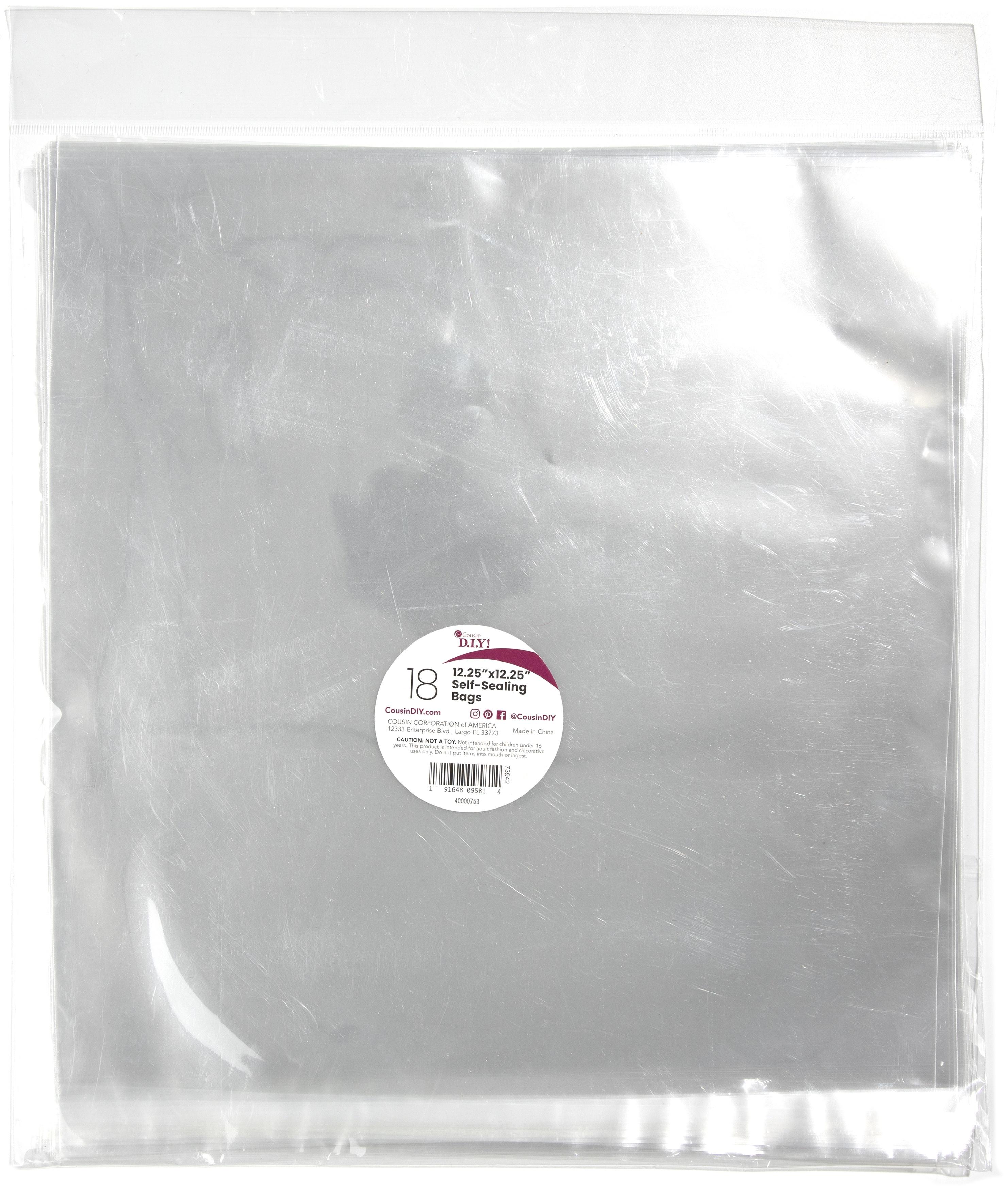Self-Sealing Bags 12.25X12.25 18/Pkg-Clear