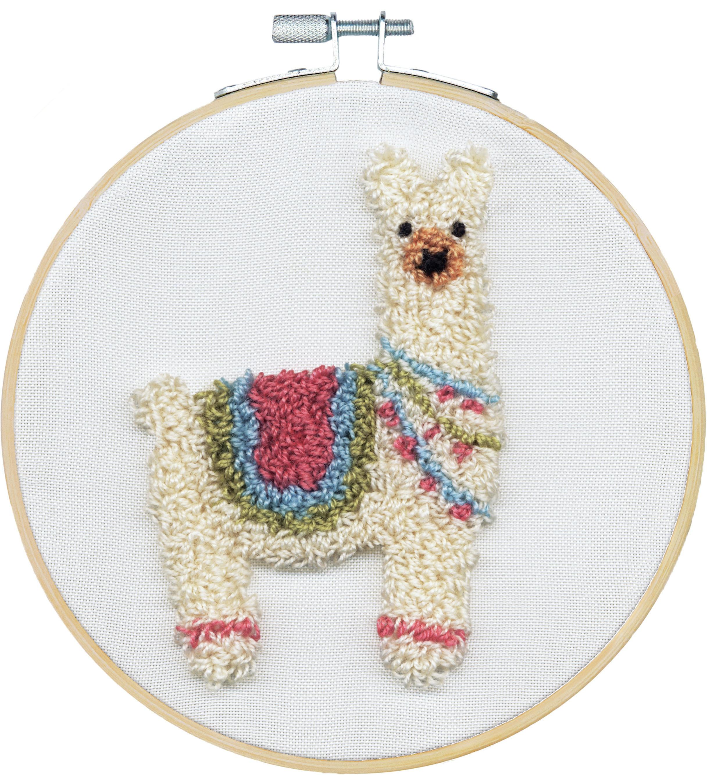 Punch Needle Kit 8 Round - Llama