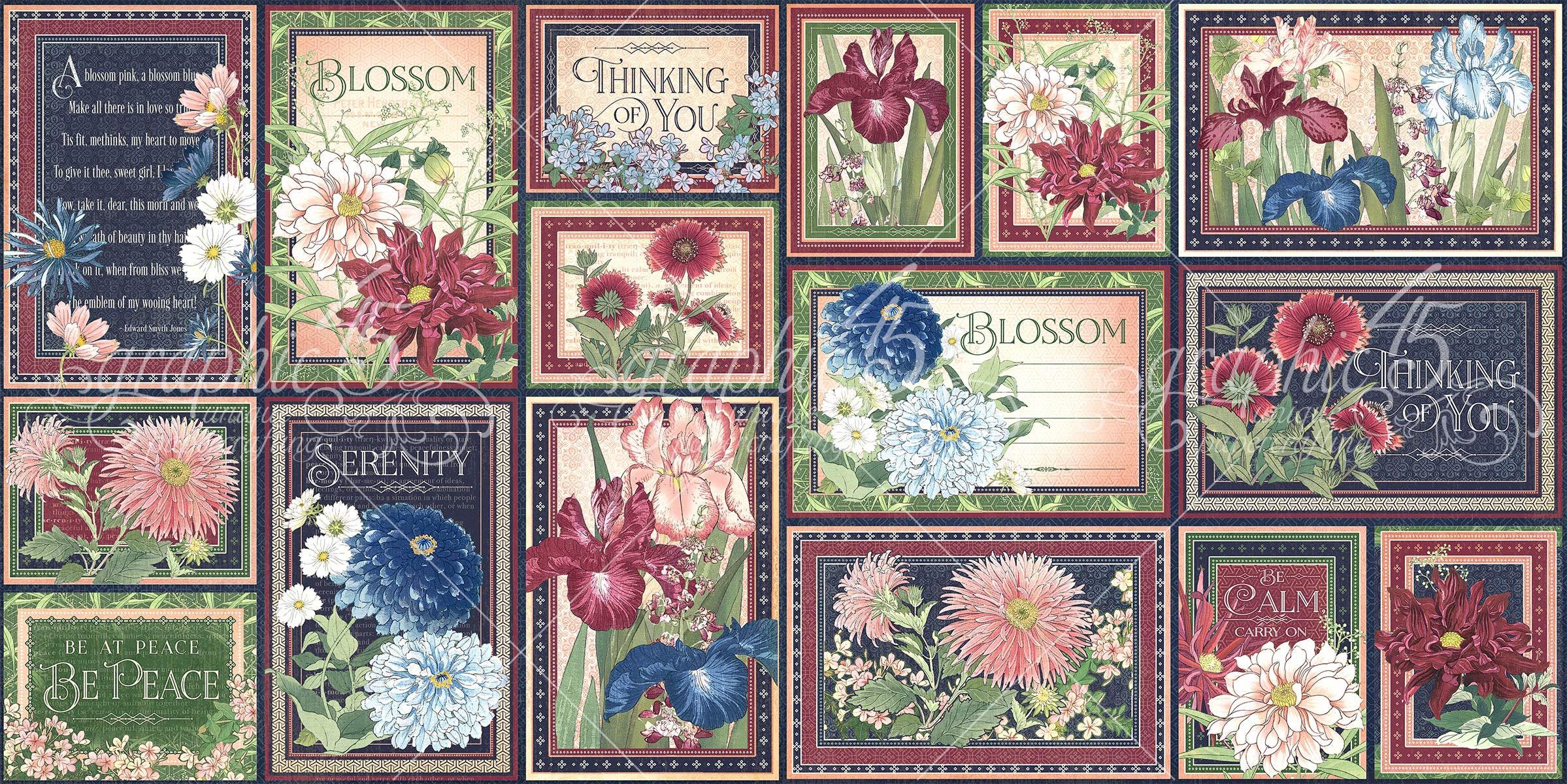 Blossom Ephemera & Journaling Cards-