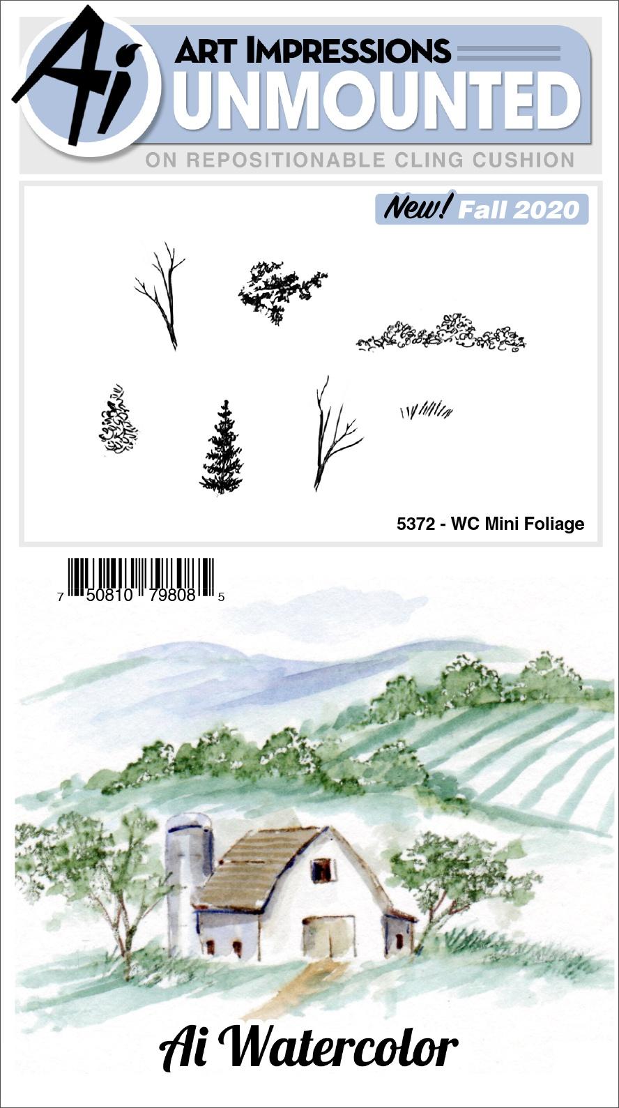 AI - WC - Mini Foliage Stamp