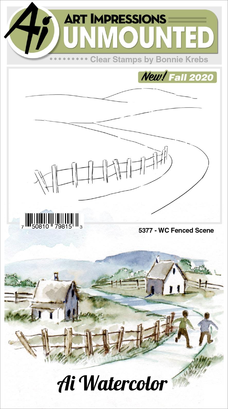 AI - WC - Fenced Scene Stamp