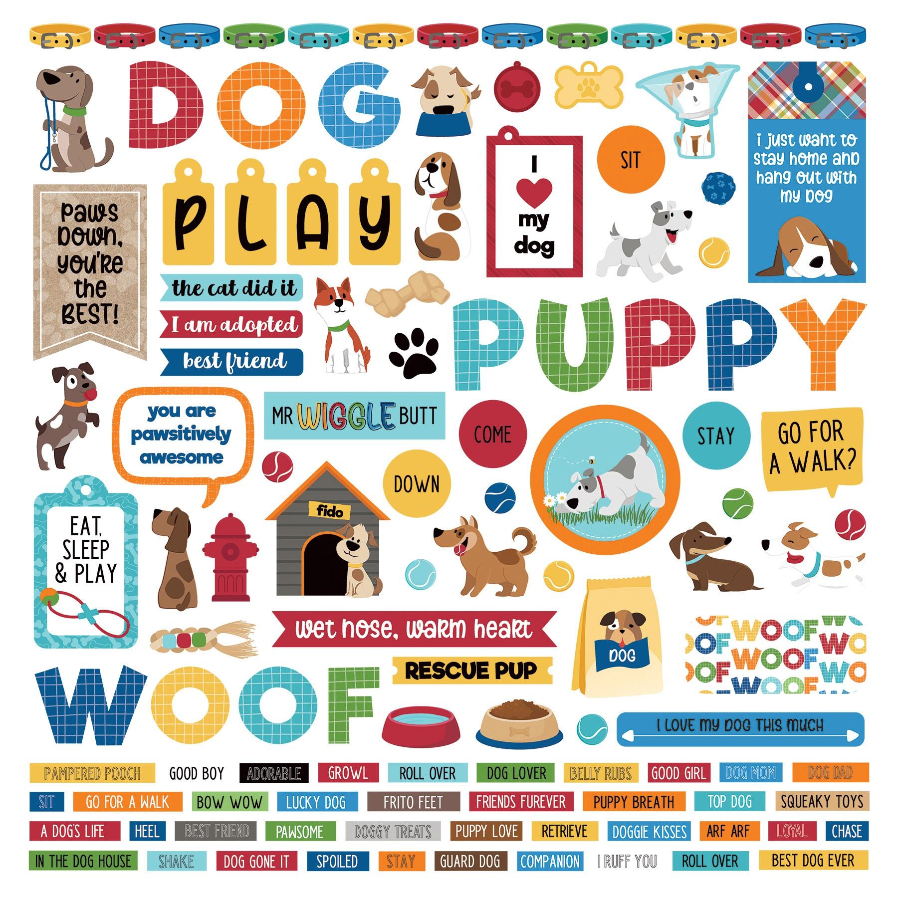 PhotoPlay - Dog Lover - 12x12 Element Sticker Sheet