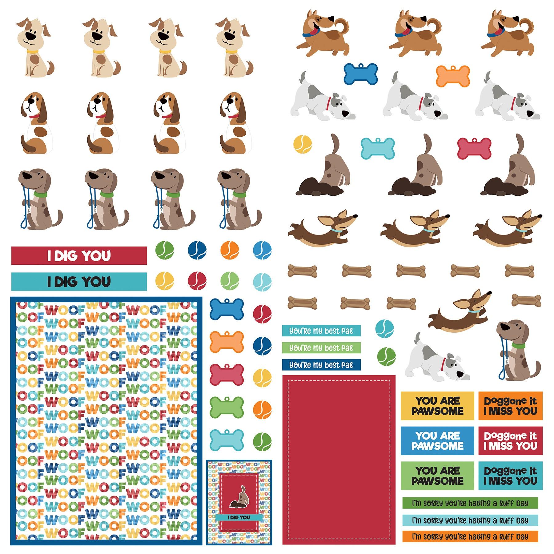 Dog Lover Cardstock Die-Cut Sheet 12X12-