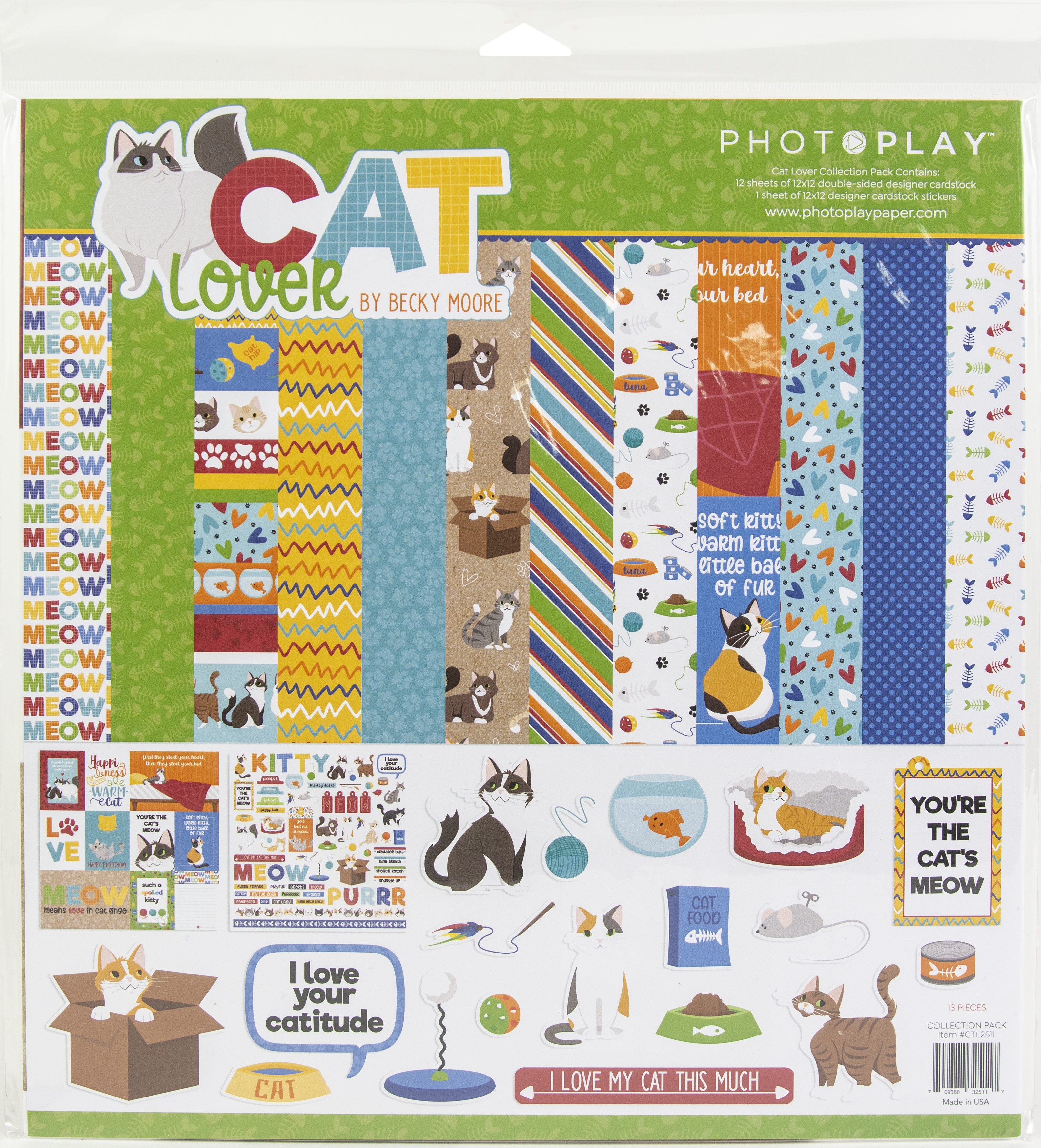 PhotoPlay Collection Pack 12X12-Cat Lover