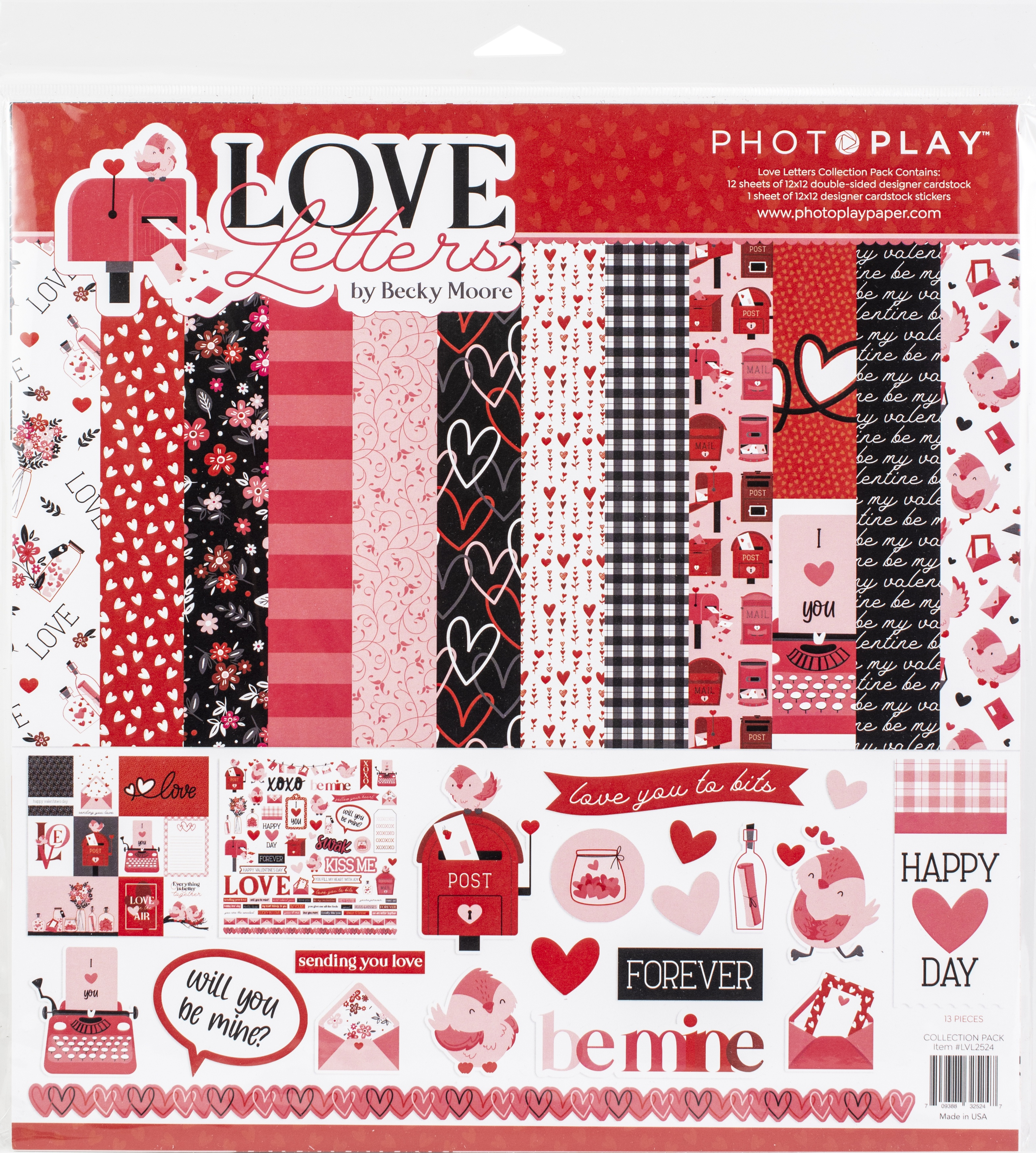 PhotoPlay Collection Pack 12X12-Love Letters