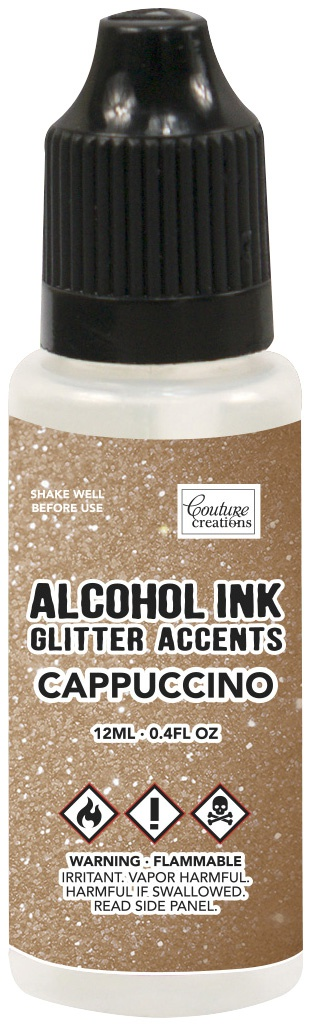 Couture Creations Glitter Accents Alcohol Ink .4oz-Cappucino