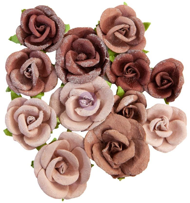 Prima Marketing Mulberry Paper Flowers-Sahara/Golden Desert