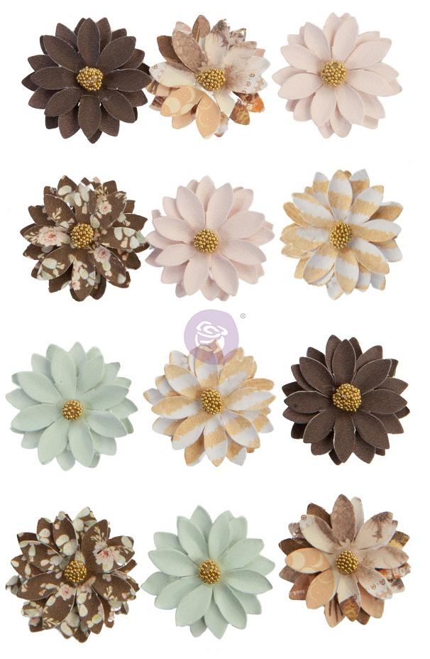Prima Marketing Mulberry Paper Flowers-Brown Valley/Golden Desert
