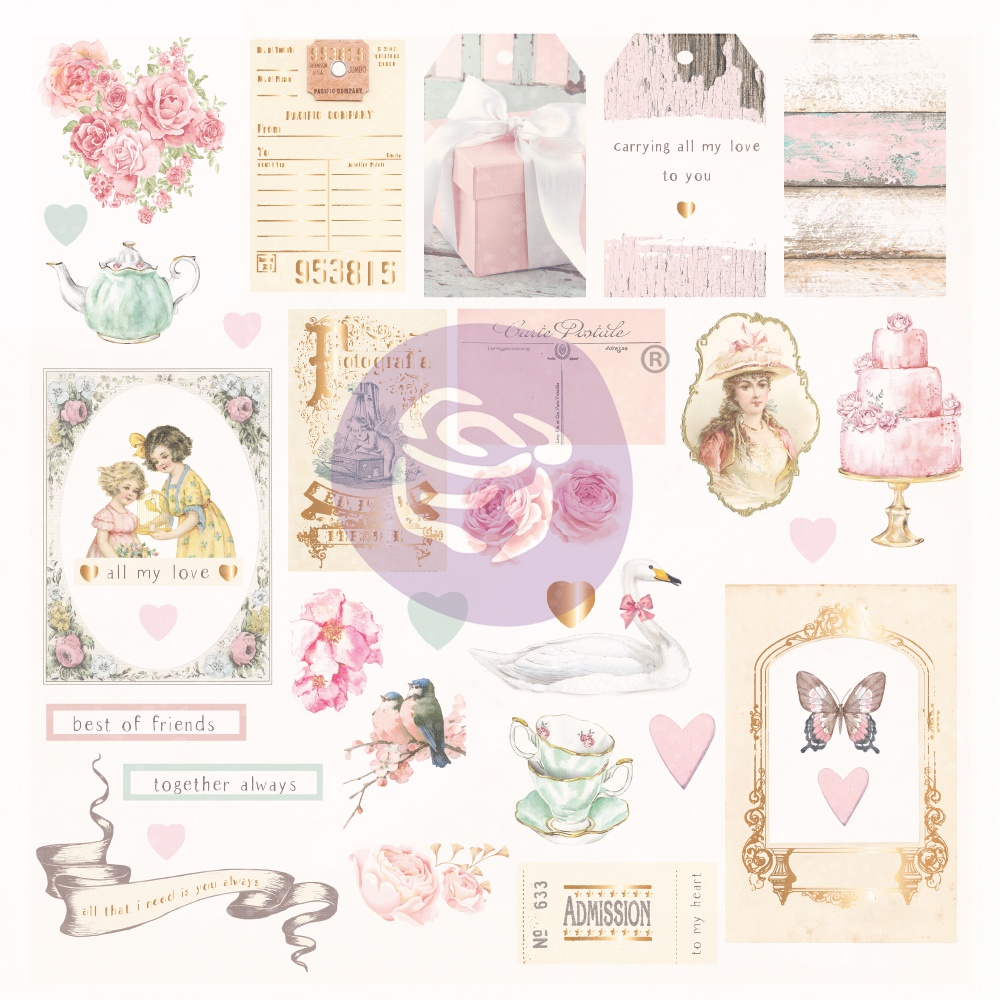 With Love By Frank Garcia Cardstock Ephemera 31/Pkg-Shapes, Tags, Words, Foiled ...
