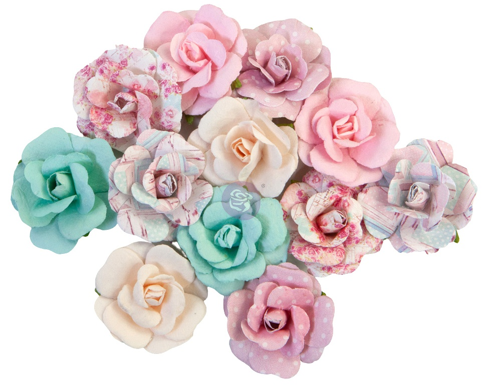 Prima Marketing Mulberry Paper Flowers-Lovely Bouquet/With Love