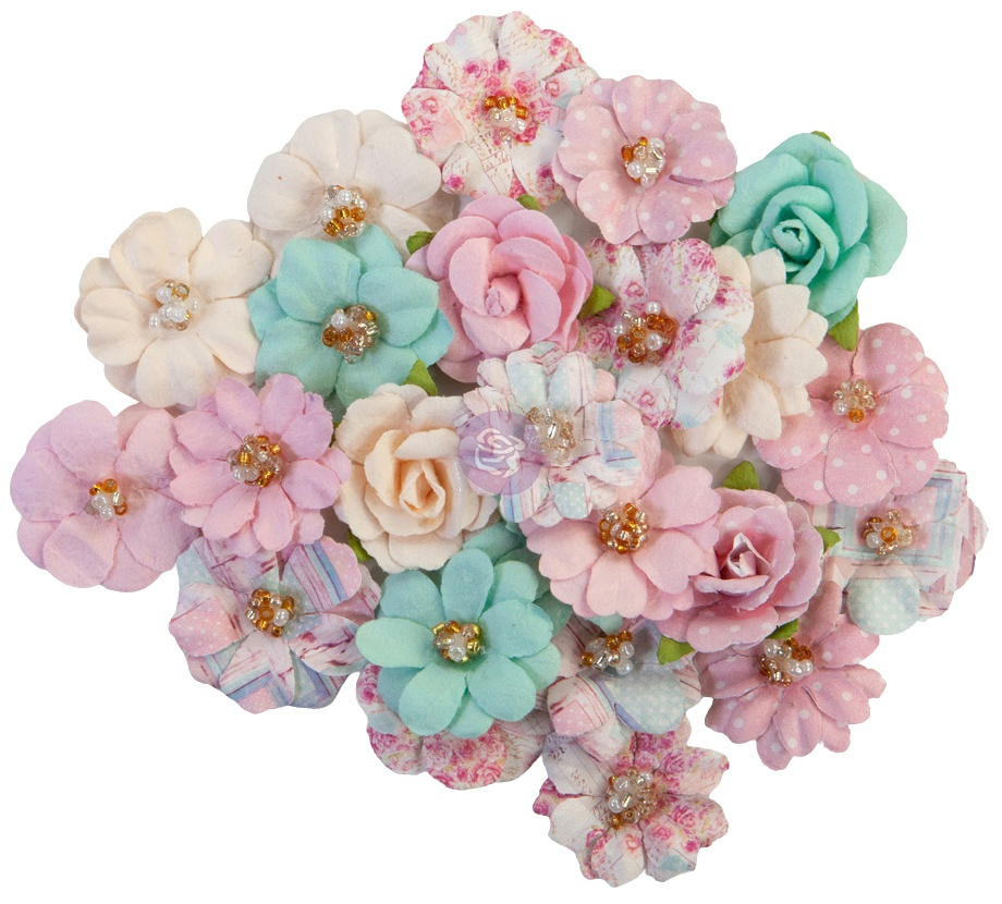 Prima Marketing Mulberry Paper Flowers-Friends Forever/With Love