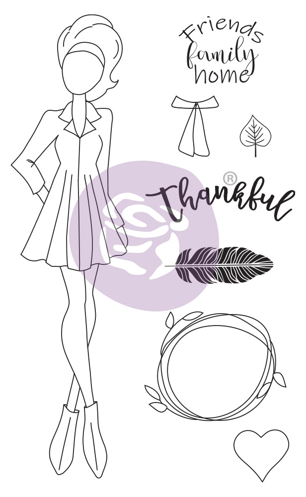Prima Marketing Julie Nutting Mixed Media Cling Rubber Stamp-Clair