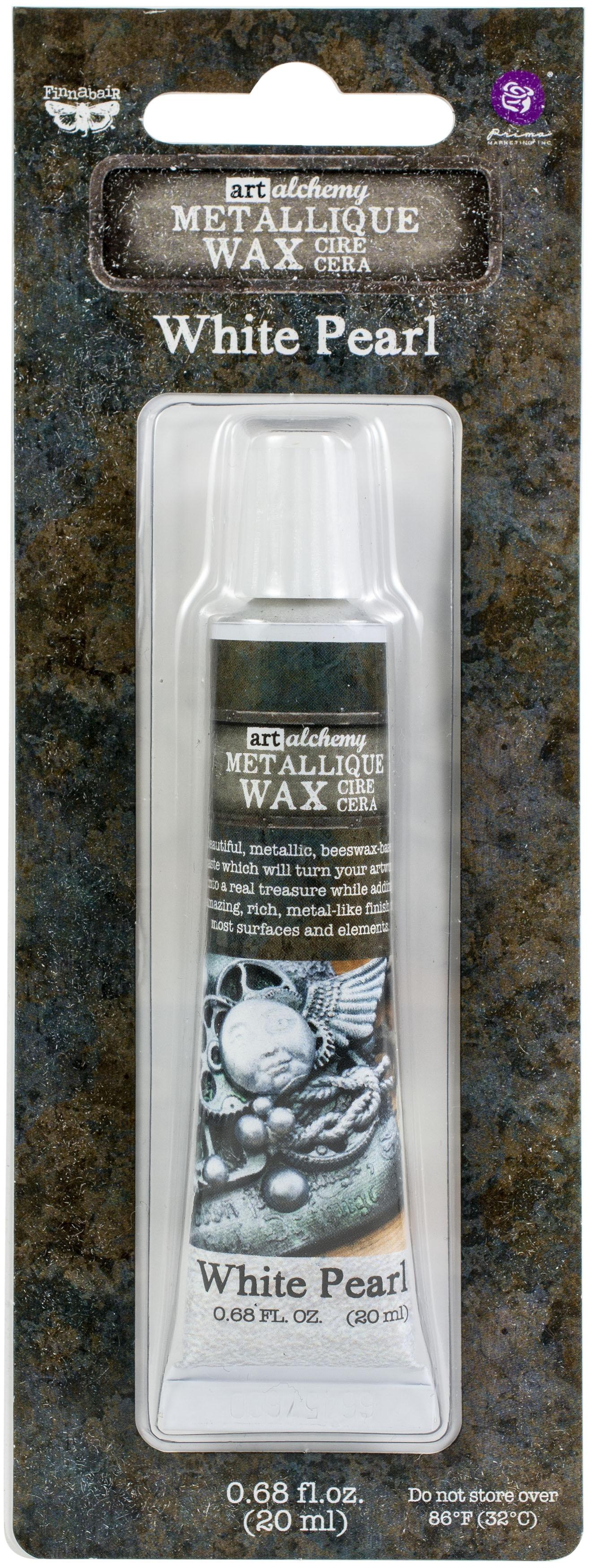 Finnabair Metallique Wax - White Pearl