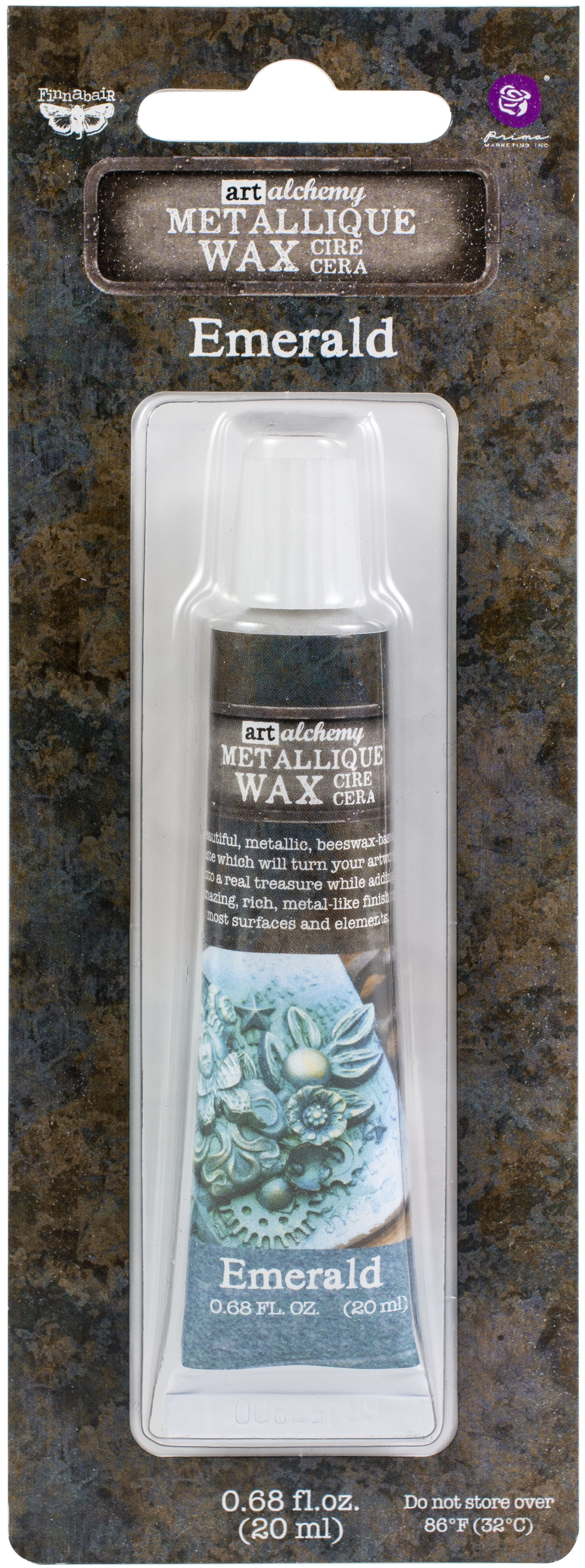 Finnabair Metallique Wax - Emerald