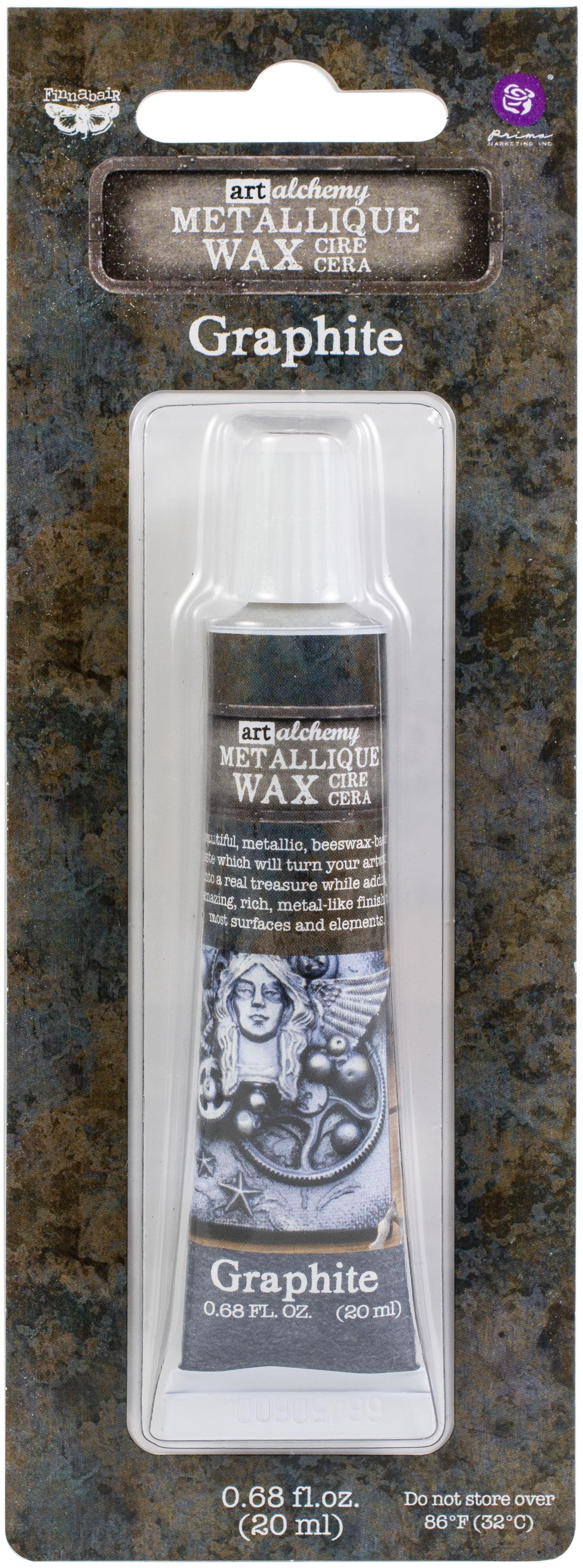 Finnabair Art Alchemy Metallique Wax .68 Fluid Ounce-Graphite