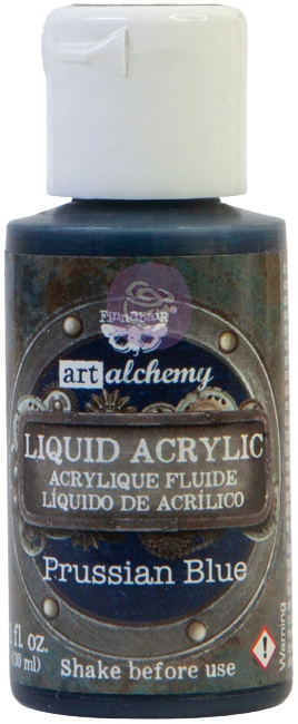 Finnabair Liquid Acrylic - Prussian Blue