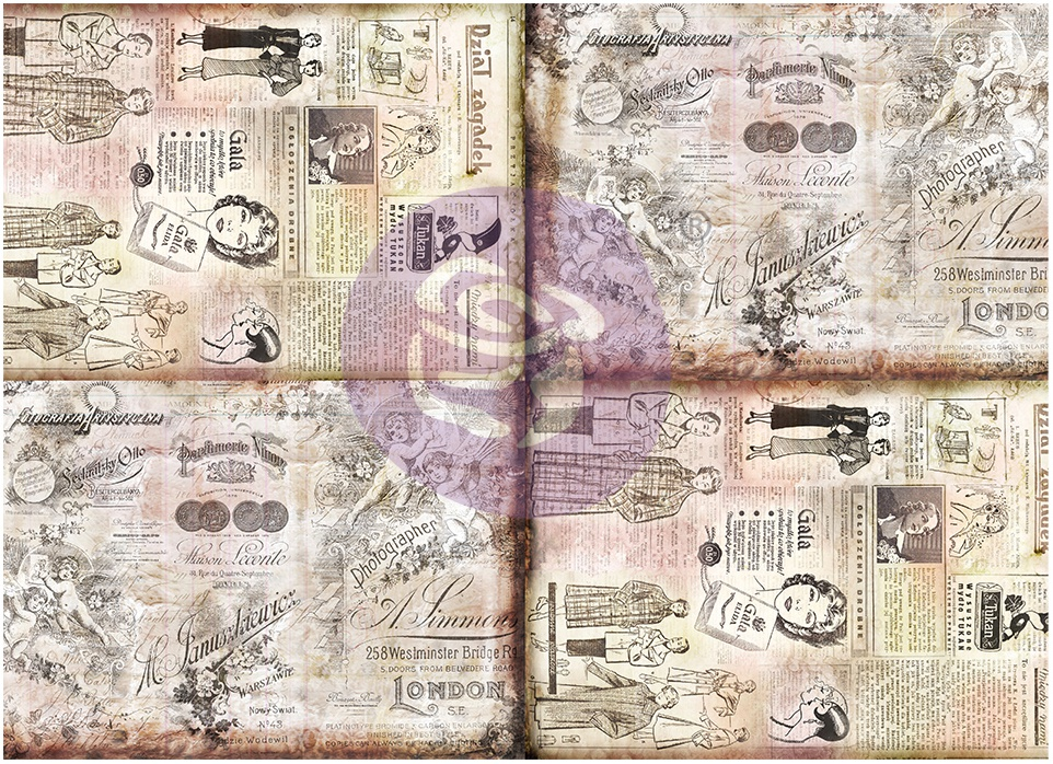 Finnabair Art Daily Tissue Paper 27.5X19.7 6/Pkg-Butterfly Messages -Journalin...
