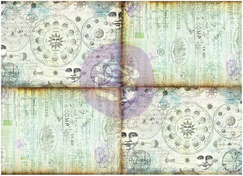 Finnabair Art Daily Tissue Paper 27.5X19.7 6/Pkg-Celestial Music -Journaling Minis