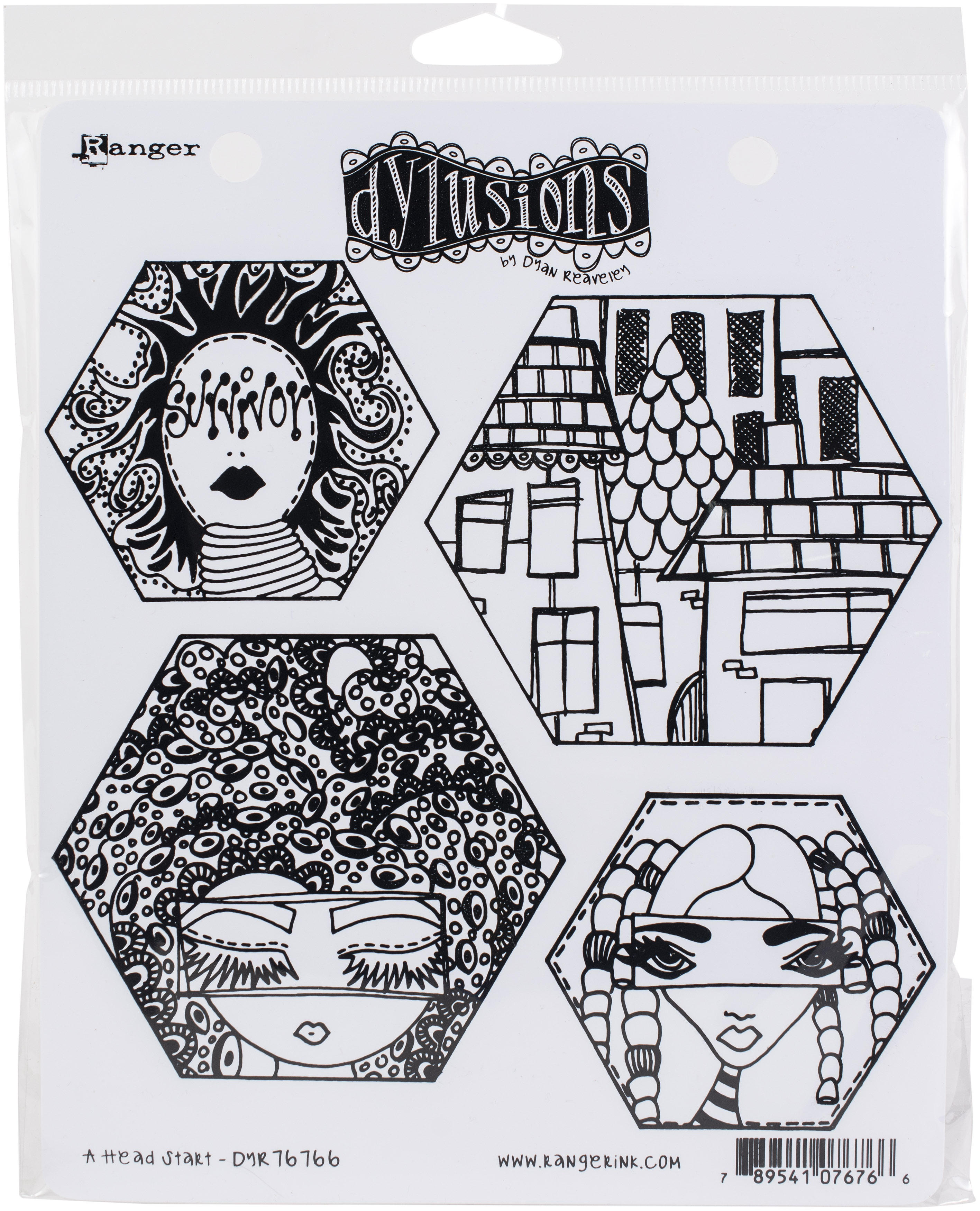 There/'s No Mushroom In Here! Dylusions Cling Stamp Collections 8.5x7 DYR73017 by Dyan Reavely