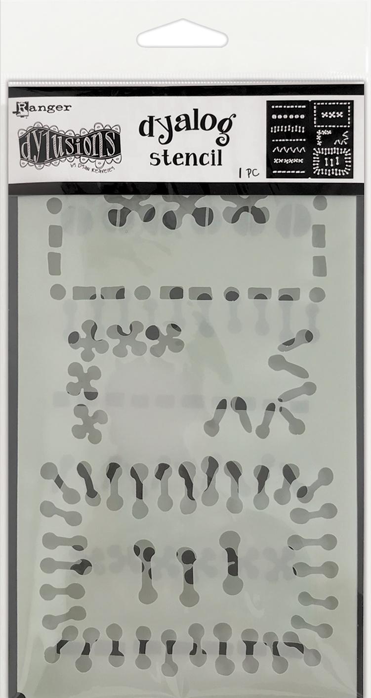 Dyan Reaveley's Dylusions Dyalog Stencil-Stitch It
