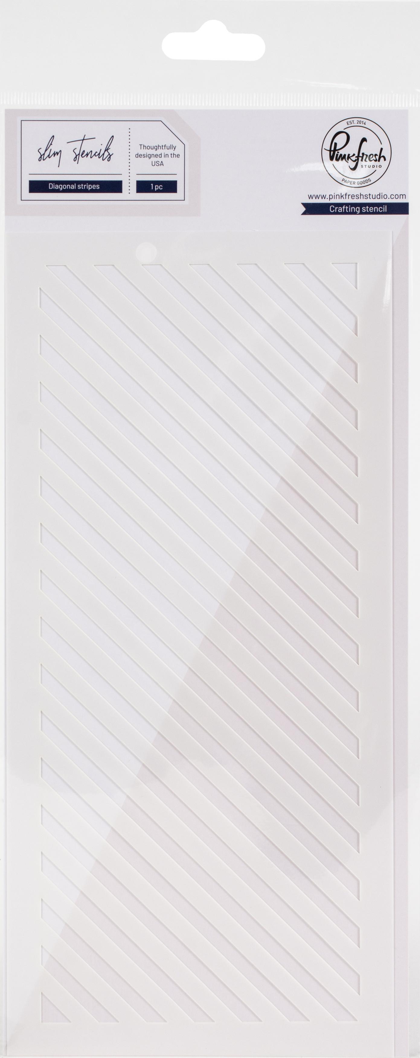 Pinkfresh Studio Stencil 4X9-Diagonal Stripe