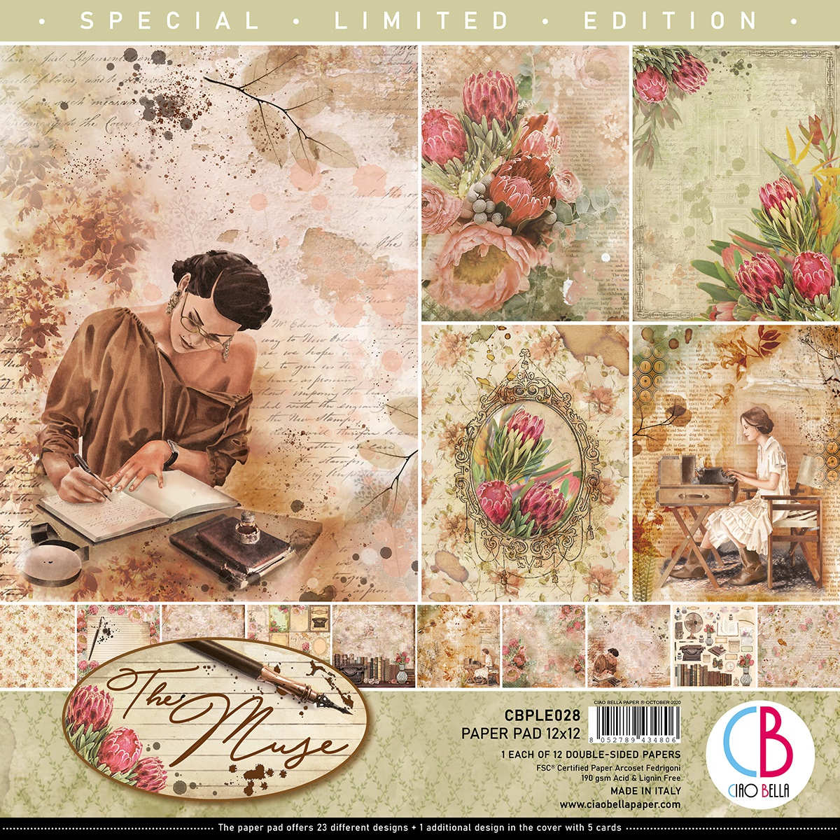 Ciao Bella Double-Sided Paper Pack - The Muse, 12x12