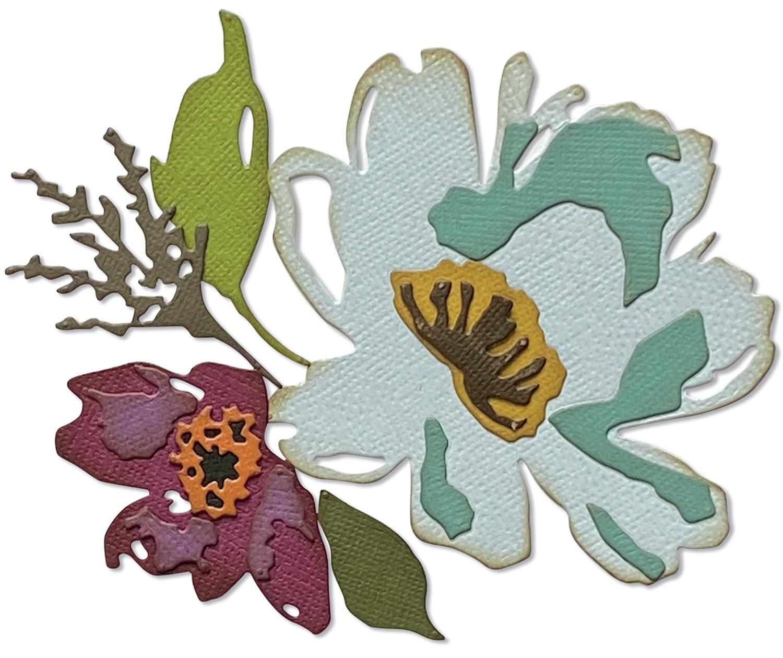 Sizzix Thinlits Dies By Tim Holtz 5/Pkg-Brushstroke Flowers #3