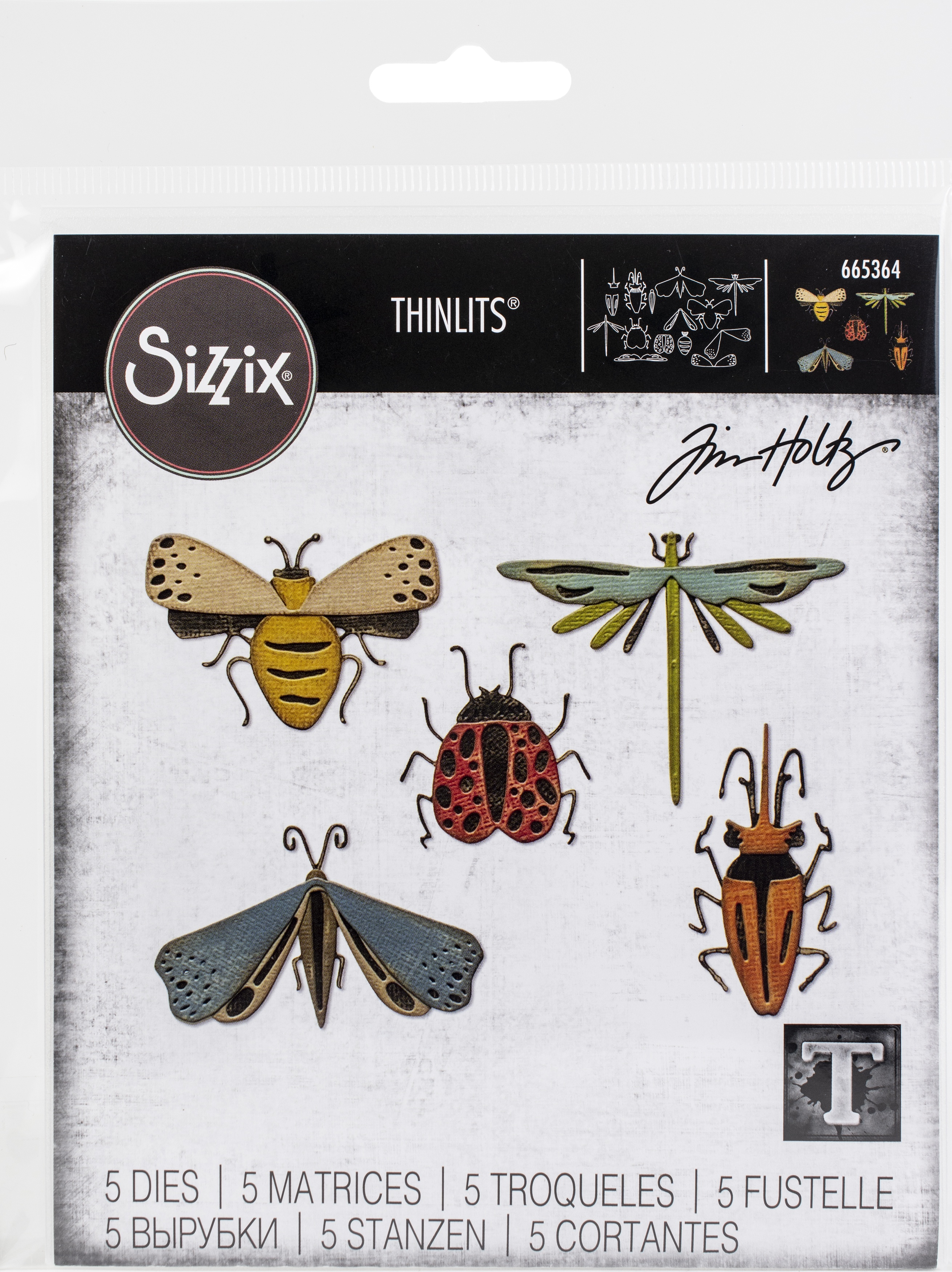 TH Sizzix Die Funky Insects