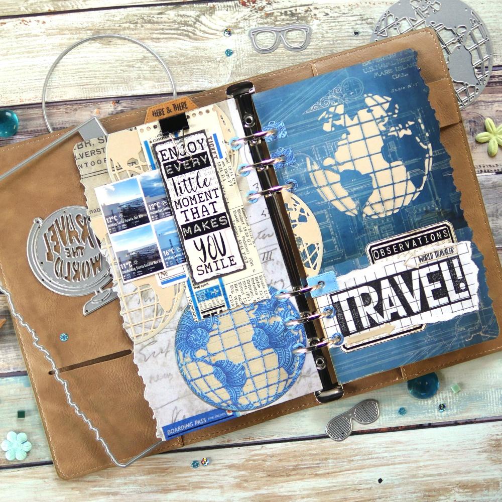Elizabeth Craft Metal Die-Planner Essentials 28 -Globe