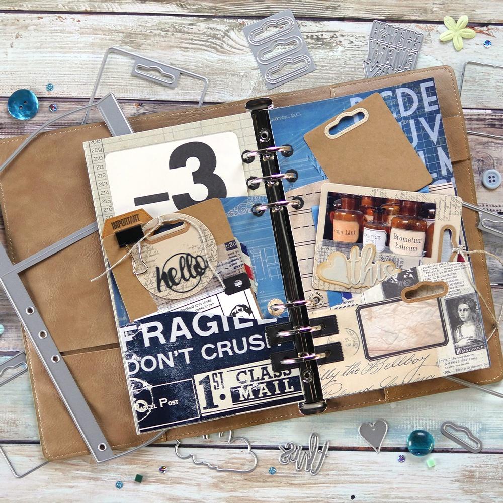 Elizabeth Craft Metal Die-Planner Essentials 30 -Wave Pocket
