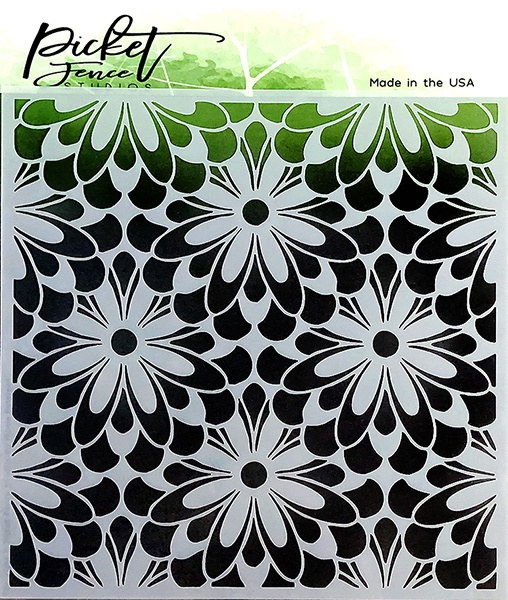 PCK Stencil 6X6-Daisy Burst