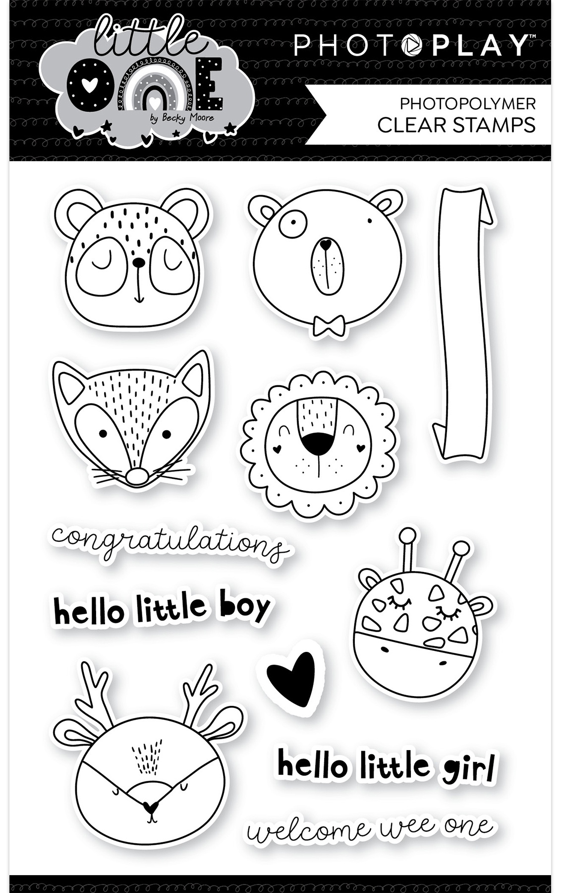 PhotoPlay - Little One - Animals Stamp Set
