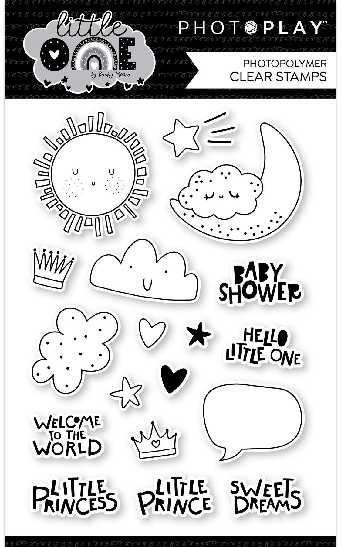 Icons- Photopolymer Stamp