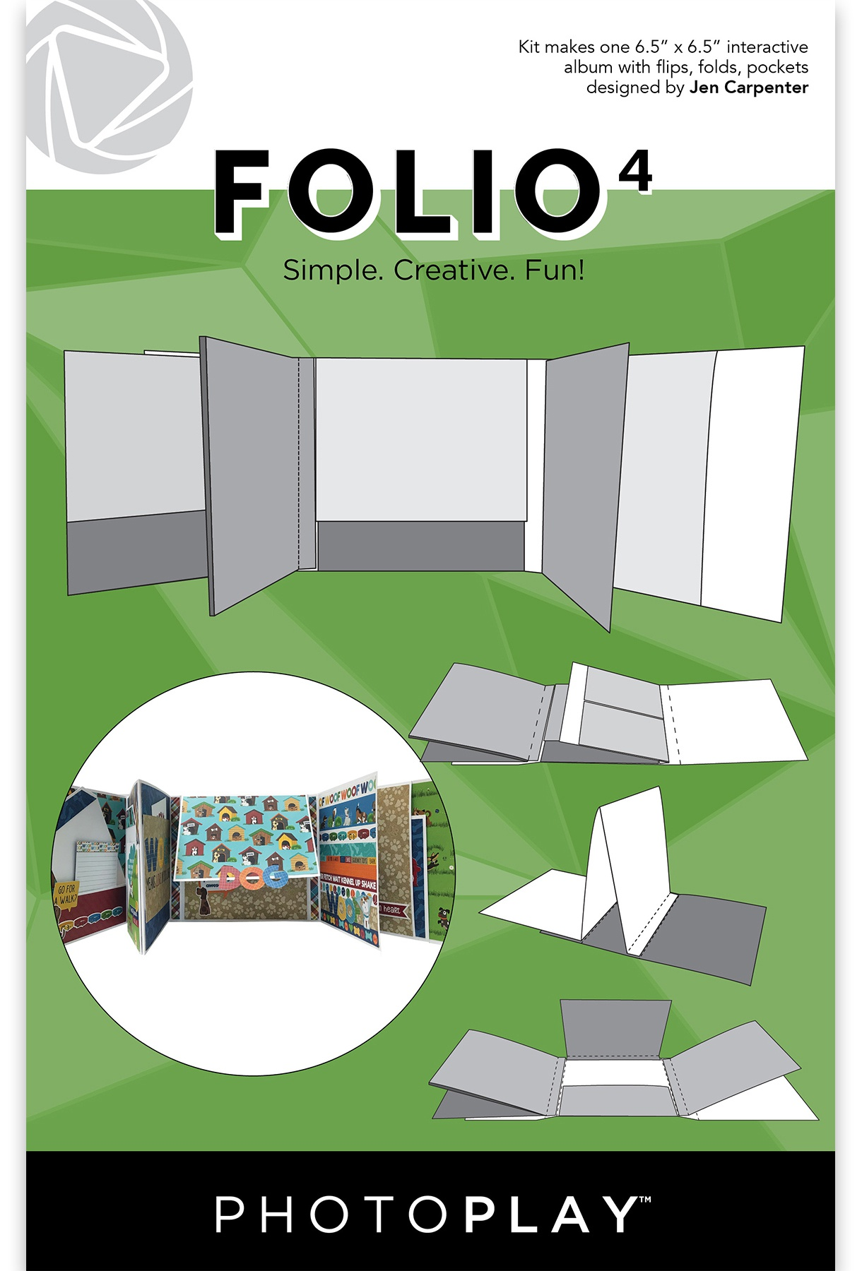 PhotoPlay Folio 4 6.5X6.5-White