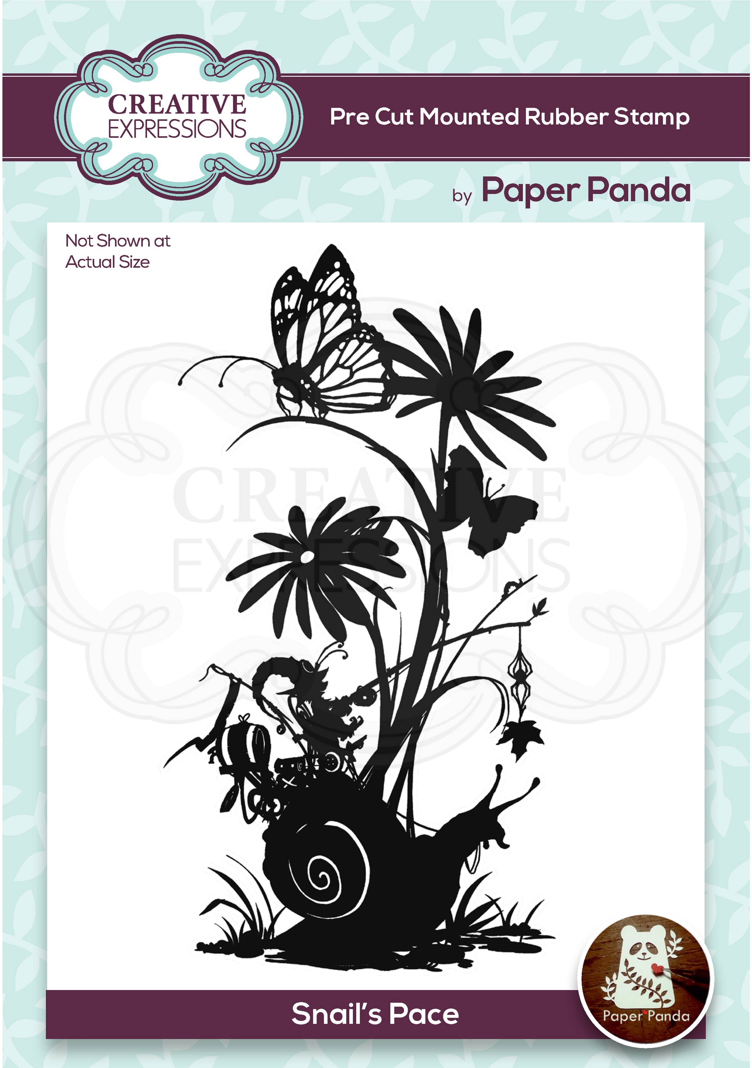 CREATIVE EXPRESSIONS STAMPS: SNAIL'S PACE