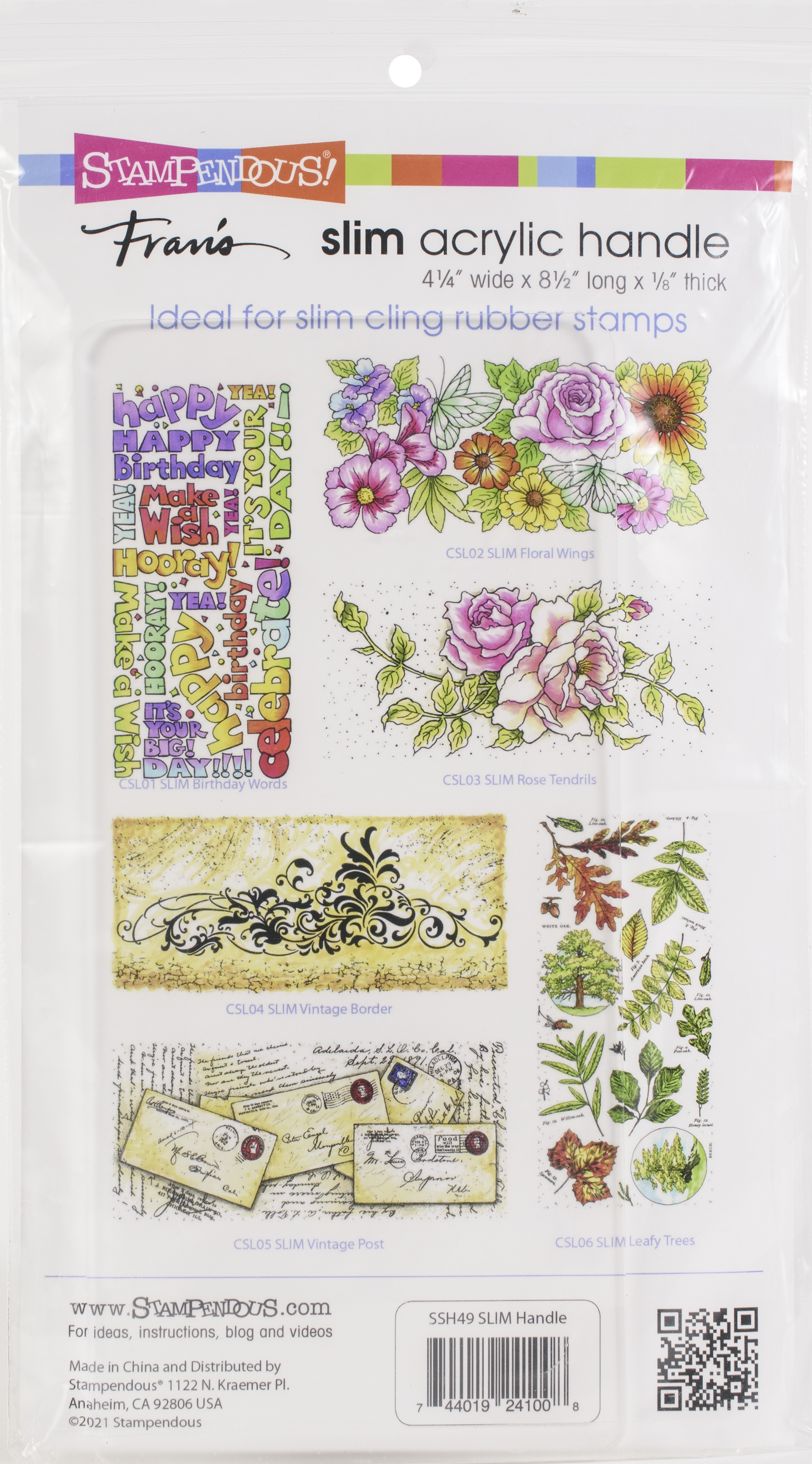 Stampendous Perfectly Clear Stamp Block-4.25X8.5 - Slim Handle